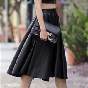 Dresses & Skirts - Pleated Leather Skirt