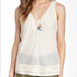 Love Stitch Tops - Love Stitch Crochet Tank M