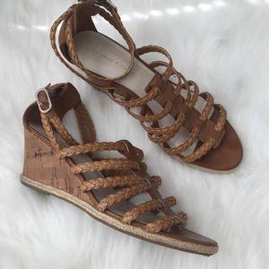 Etienne Aigner Shoes - Strappy Wedge Cork Etienne Aigner Sandals