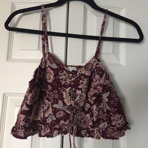PacSun LA Hearts lace up crop top