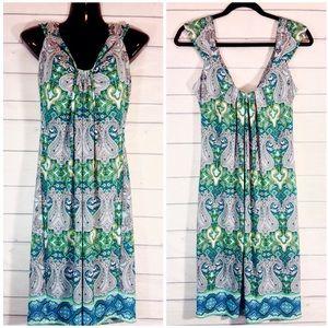 London Times Dresses & Skirts - London Times Paisley Print Midi Dress Size 10 EUC