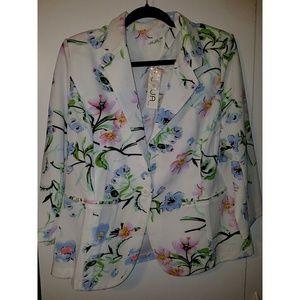 Plus size floral blazer 2x 3x