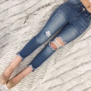 43% off GJG Denim Denim - Black very distressed skinny jeans from ...