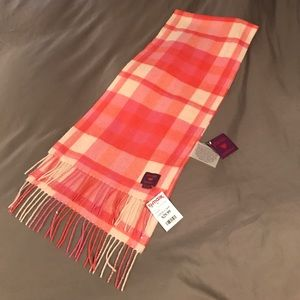 Phenix Accessories - Pink & Orange Plaid Cashmere Scarf || Phenix