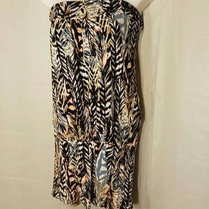 H&M strapless loose fitting blouse size Small