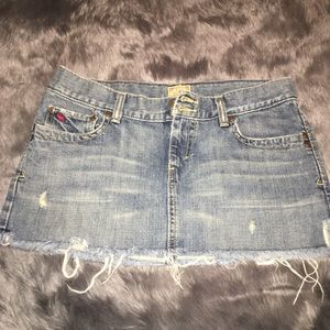 Abercrombie & Fitch Dresses & Skirts - Light Jean Distress Mini Skirt