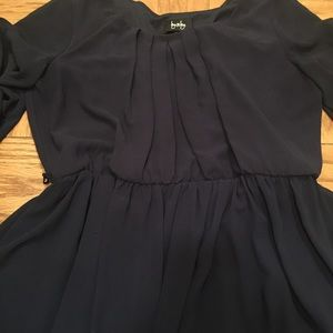 Dresses & Skirts - Navy pleated dress.