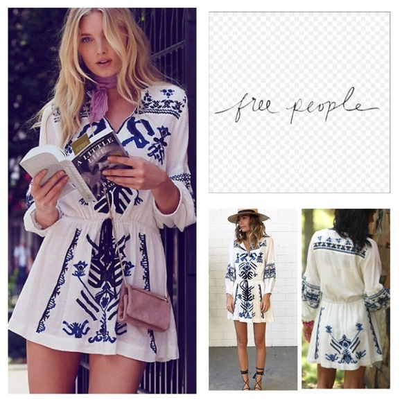 615a5f0f84dd Free People Dresses | Anouk Embroidered Mini Dress Nwt | Poshmark