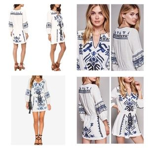 98c97a2216c9 Free People Dresses - Free People Anouk Embroidered Mini Dress. NWT.