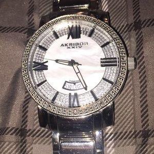 Akribos XXIV Other - Akribos XXIV Diamond & Quartz watch, Steel Band.