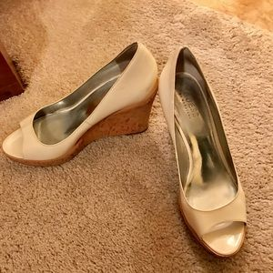 Guess Shoes - Guess white wedge patent leather