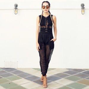 Style Link Miami Pants - SHEER MESH TRACK PANTS