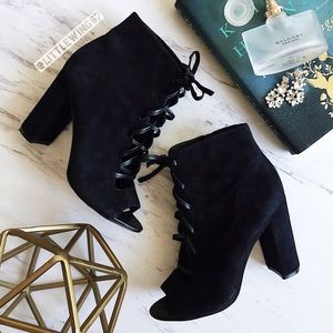 Sam Edelman Shoes - Lace up suede booties