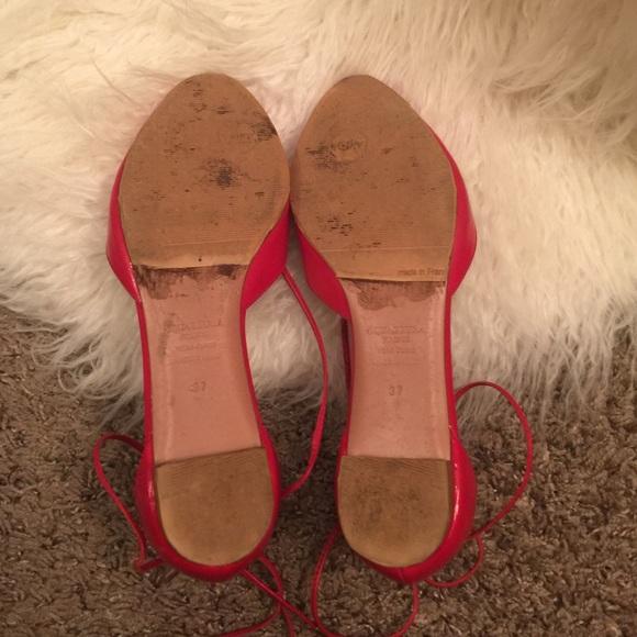 aquazzura Shoes - Aquazurra red lace up flats