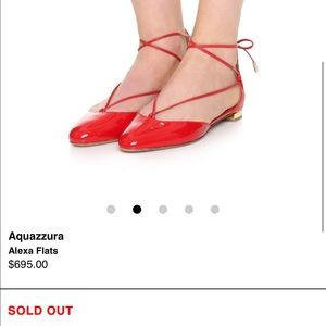 aquazzura Shoes - Aquazurra red lace up flats