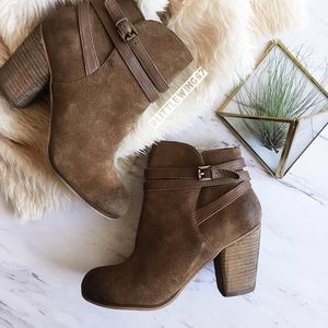 bp Shoes - Distressed suede ankle booties