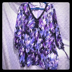 Avenue Tops - Plus size 30/32 Avenue Purple multiple colored top