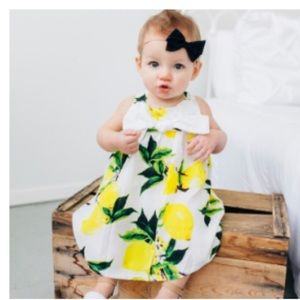 Other - Spring Lemon Drop Dress With Big Bow