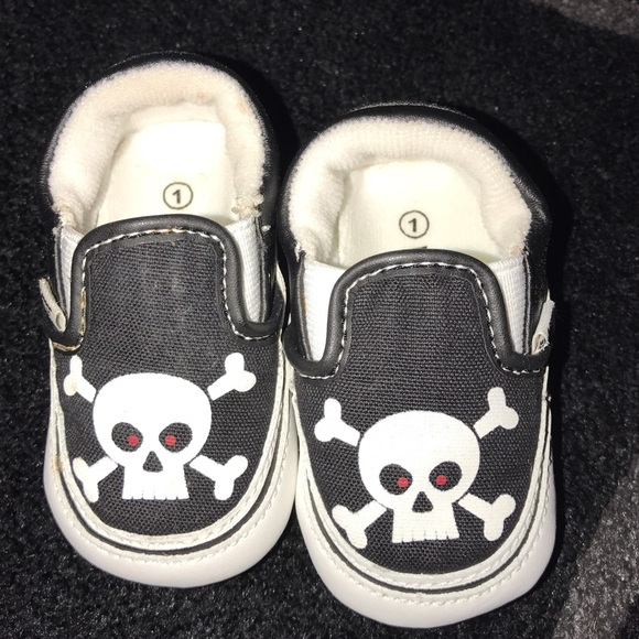 9319afea Baby Infant Vans Skull Shoes Booties Size 1