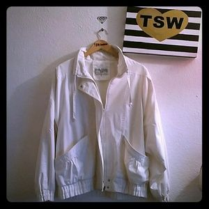 international scene Jackets & Blazers - 90's Vintage white retro jacket