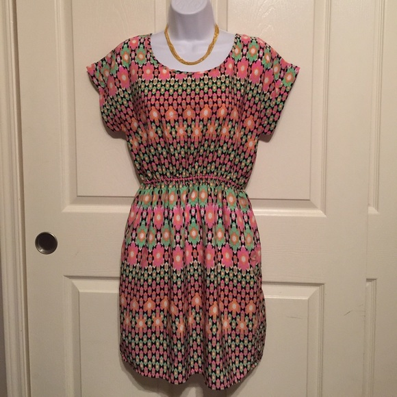 Soprano Dresses & Skirts - Soprano colorful soft dress size medium pink green