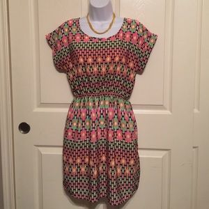 Soprano Dresses - Soprano colorful soft dress size medium pink green