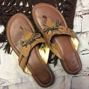 Sperry Shoes - SPERRY TOPSIDER BROWN LEATHER SANDALS/SHOES
