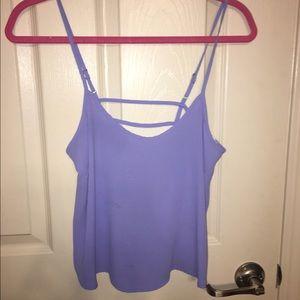 Lavender open back tank