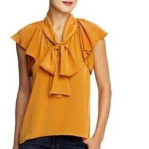 Collective Concepts Tops - Collective Concepts tie blouse
