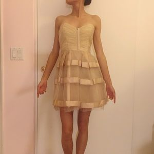 Bloomingdale's Dresses - tulle - satin formal {PROM} dress