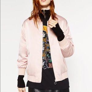 Pink oversize Bomber  jacket