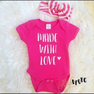 Made With Love Onesie NEW