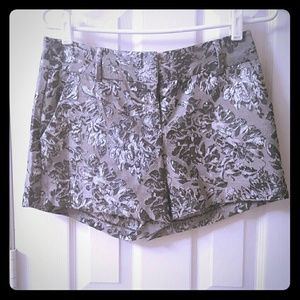LC Lauren Conrad Pants - Lc metallic silver floral shorts
