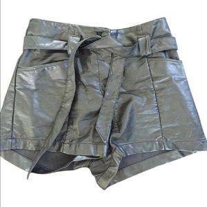 H&M Black  Pleather Shorts