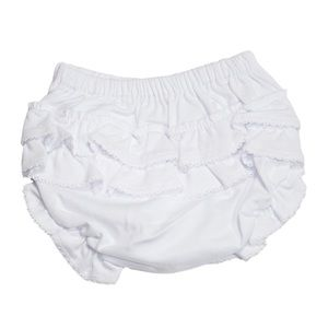 Kissy Kissy Other - Basic Diaper Cover with Ruffle - White