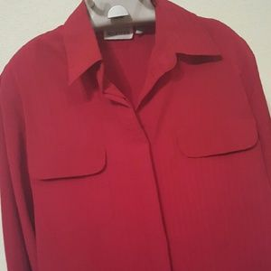 Apparenza Tops - Apparenza Red button down with front pockets