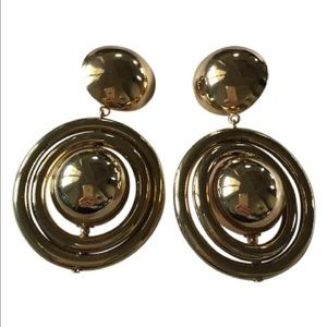 H&M Jewelry - Women's Gold Plated Drop Round  Earings
