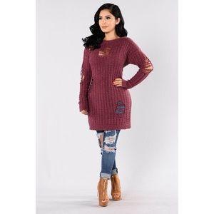 Fashion Nova Other - 'Colder Weather Sweater - Plum'
