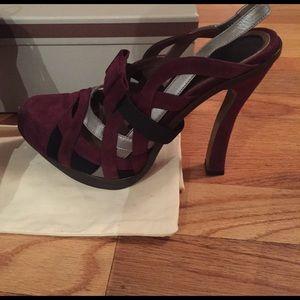 NIB Marni heels with removable bows 39.5