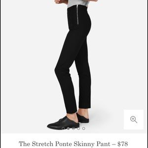 Everlane Pants - Everlane-The Stretch Ponte Skinny Pant in black