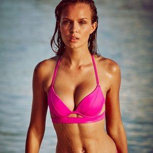 New VS Swim banded hottie halter bikini top 34D