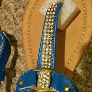 ae52659de46f Nordstrom Shoes - Rhinestone T-strap sandals Brand new in box