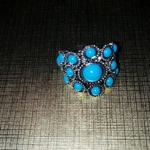 10 Crosby Derek Lam Jewelry - FAUX TURQUOISE MULTI CABACHON RING
