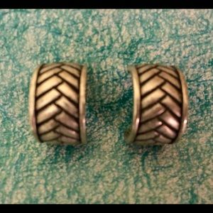 Chico's Jewelry - CHICO'S SILVER ETCHED CUFF PIERCED EARRINGS