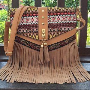 Handbags - Tasseled Handbag