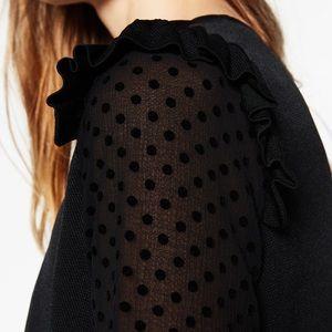 Zara Tops - Zara frilled plumeria blouse -- medium