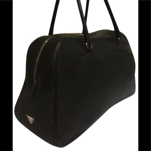 cc3198768893 Authentic Gorgeous Prada leather nylon bowler bag.  M_59b6df8a522b456ae9097f6d