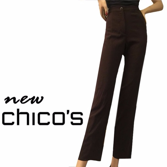 Chico's Pants - Chico's Flat Front Ava Ankle Trouser Pant