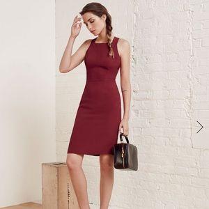 Never worn Reformation Chloe dress in Malbec