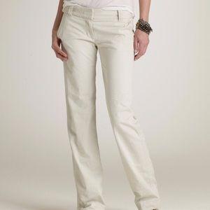 J. Crew Pants - J Crew white low fit stretch cotton pants